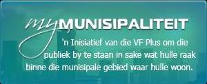 myMunisipaliteit platvorm is 'n inisiatief van die VF Plus