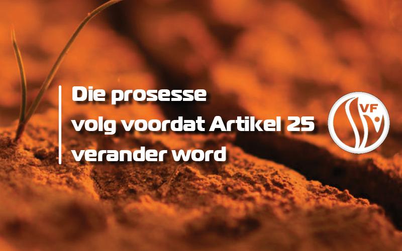 LUISTER: Dié prosesse volg voordat Artikel 25 verander word