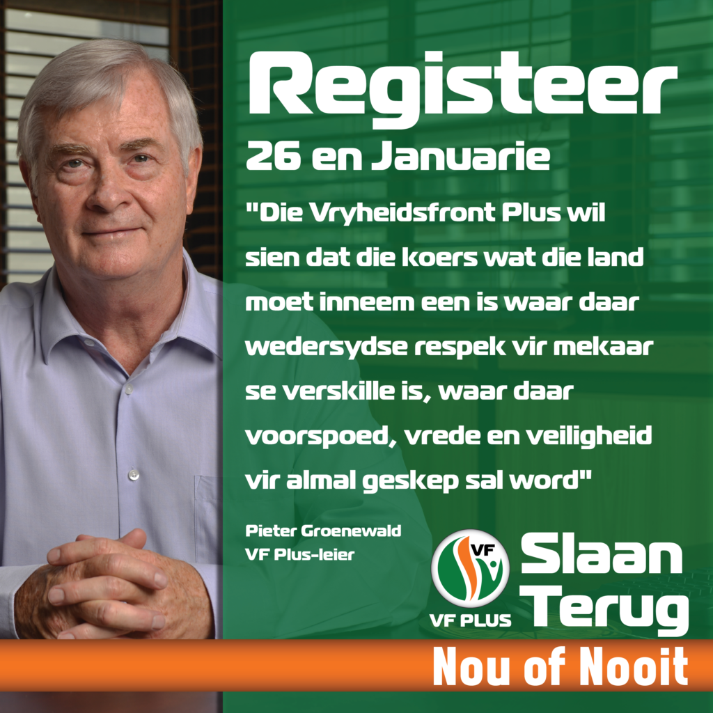 Registreer 26 27 Januarie Pieter Groenewald Afr