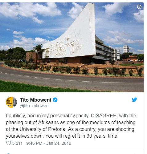 Tito Mboweni UP