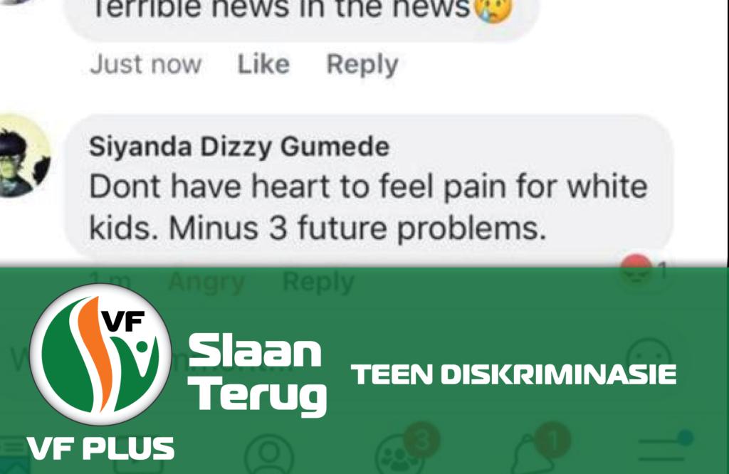 VF Plus Vryheidsfront Plus Slaan terug teen diskriminasie Anton Alberts Siyanda Dizzy Gumede