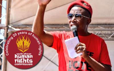 MRK verloor geloofwaardigheid met bevinding oor Malema-uitsprake